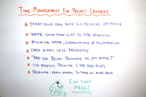 project managers need to manage their time too