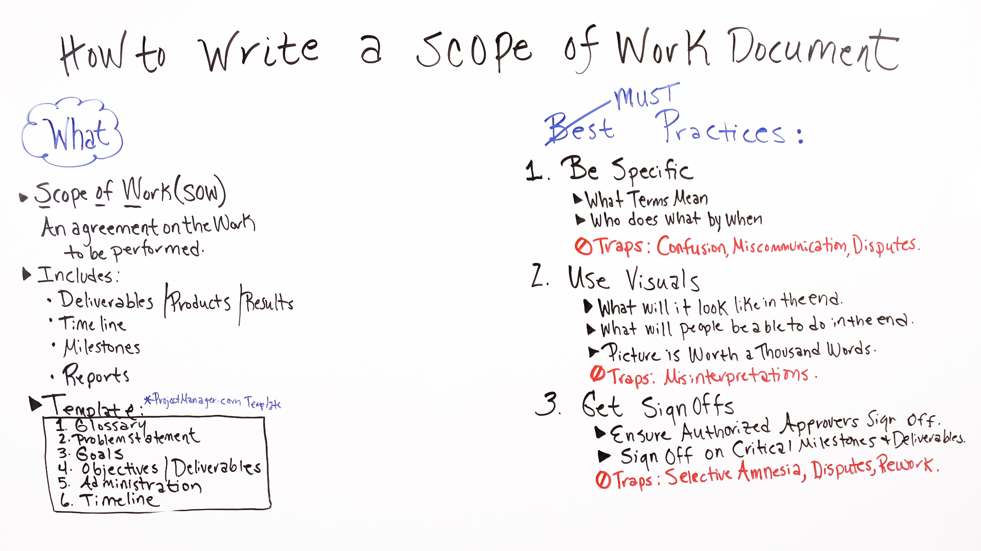 what is a scope of work document and what needs to be included in it