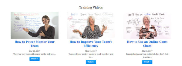 projectmanager.com online training videos