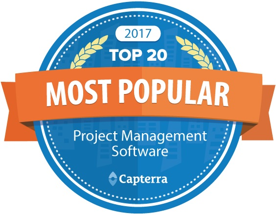projectmanager.com rises in the rankings of Capterra's Top 20 Project Management Software report!