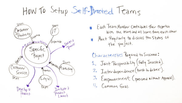 What characteristics are essential for setting up self-directed teams