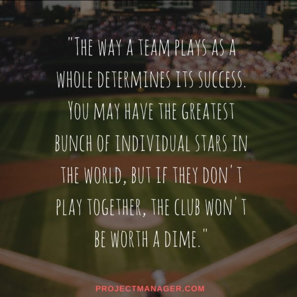 teamwork quote from babe ruth