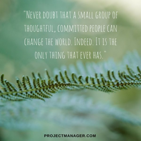 Margaret Mead teamwork quote