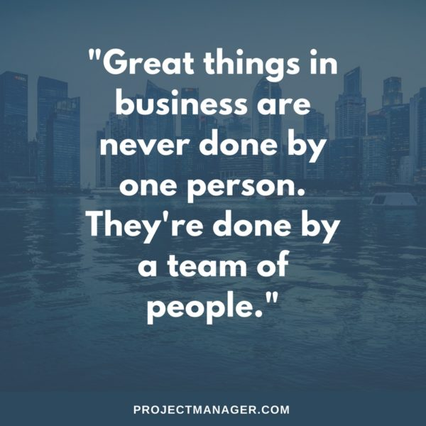 teamwork quote from steve jobs