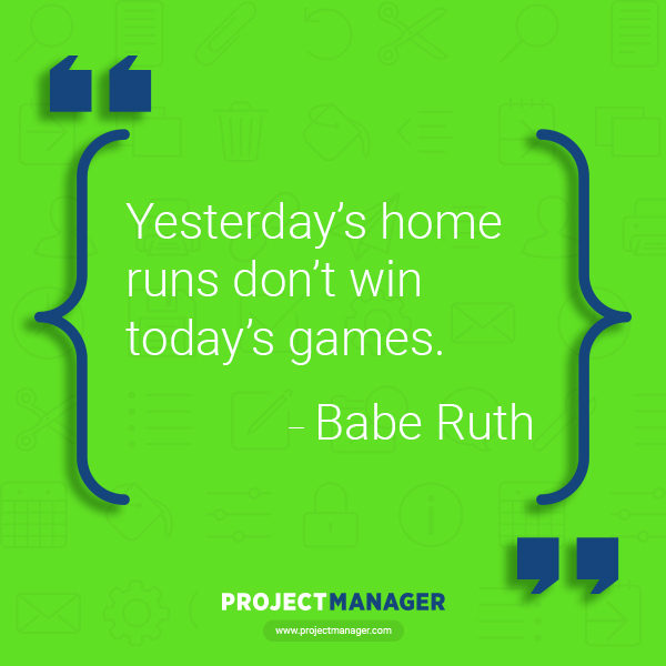 babe ruth business quote